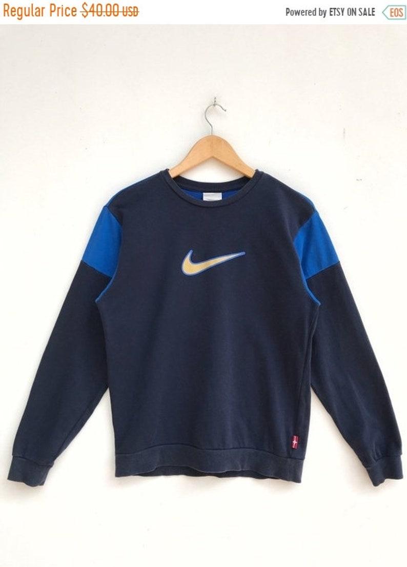 20% OFF Vintage Nike Swoosh Logo Sweatshirt Nike Sweater Nike Air Jordan Nike Spell Out Nike Crewneck