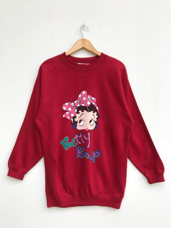 Vintage Betty Boop Women Sweatshirt / Cartoon Swea