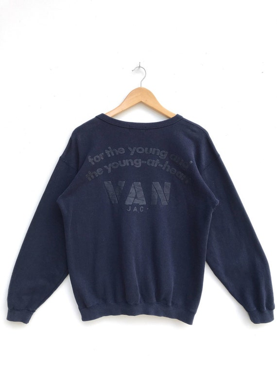 Vintage Van Jac Big Logo Sweatshirt / Van Jac Crew