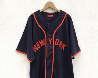 20% OFF Vintage New York Baseball Button Shirt / Baseball Tees / Baseball Clothing / New York Yankees