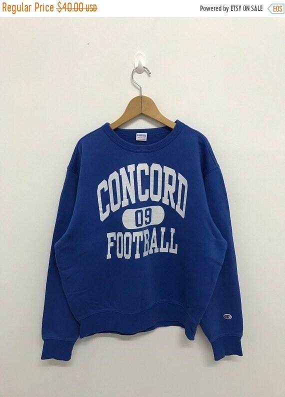 champion sweatshirt c logo blue