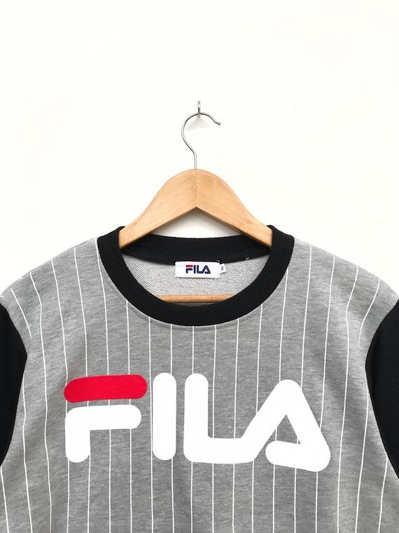 Vintage Fila Big Logo Sweatshirt / Fila Sweater /… - image 2