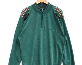 20% OFF Vintage Kenzo Half Zipper Sweatshirt / Kenzo Paris / Kenzo Sport Shirt / Kenzo Golf / Kenzo Sport