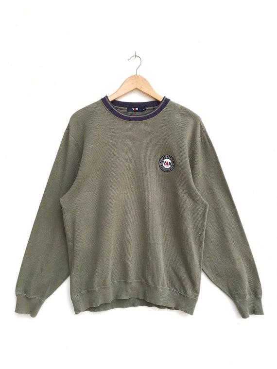 Vintage Van Jac Embroidery Small Logo Sweatshirt /
