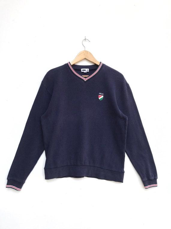Vintage Fila Italia Embroidery Logo Sweatshirt / F