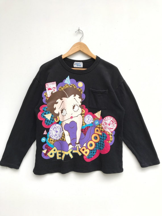 Vintage Betty Boop Pullover/Cartoon Sweater/Betty