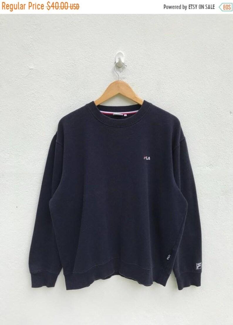 2688f1ac MEGA SALE Vintage Fila Embroidery Logo Sweatshirt / Fila   Etsy