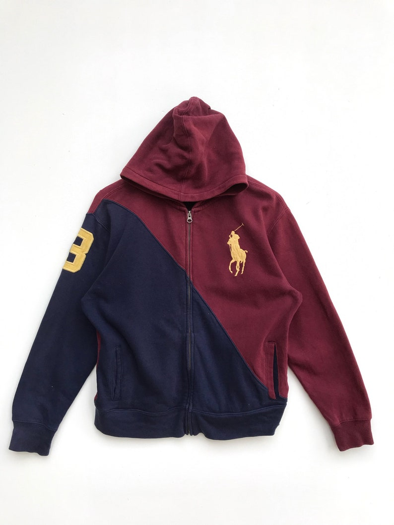 Clothing Pony Hoodie Casual Polo Ralph Big Lauren Sweater Vintage QrtdCsh