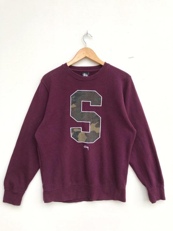 Vintage Stussy S Logo Camo Sweatshirt / Streetwear