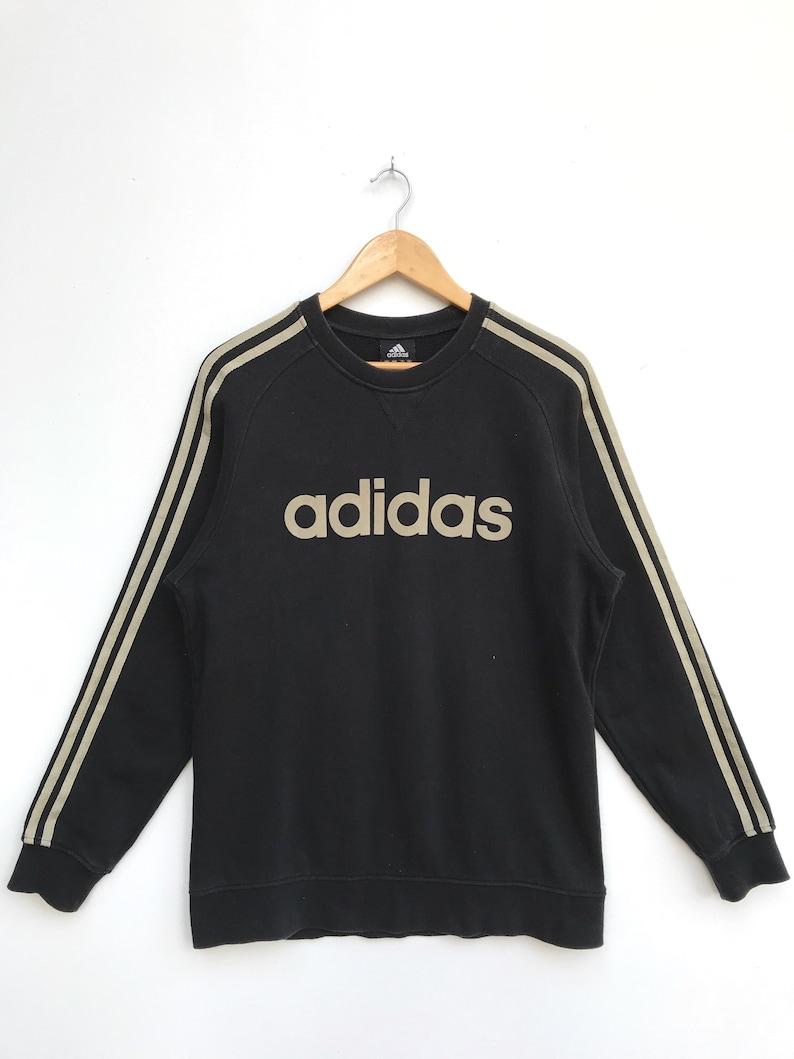 24ecc70f8d364 Vintage Adidas Spell Out Sweatshirt / Adidas Pullover / Hiphop Swag /  Adidas Sportwear / Champion