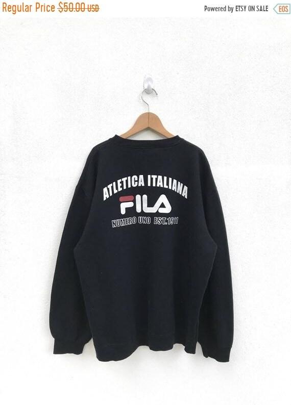 20% OFF Vintage Fila SweatshirtFila Big LogoFila ItaliaFila  af71ce7884fa0