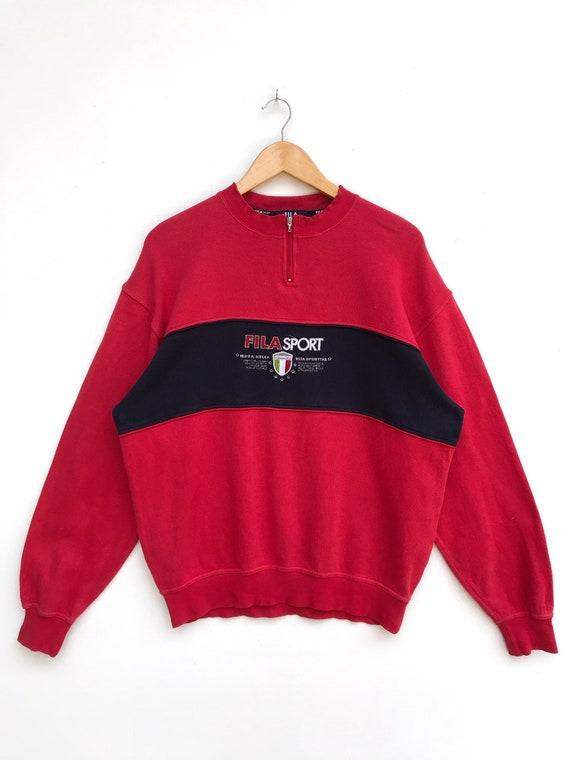 Vintage Fila Sport Embroidery Logo Sweatsgirt / Ca