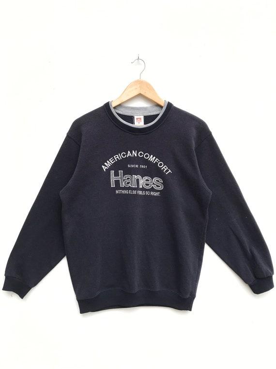 Vintage Hanes Sweatshirt/Hanes Blue Sweater/Hanes