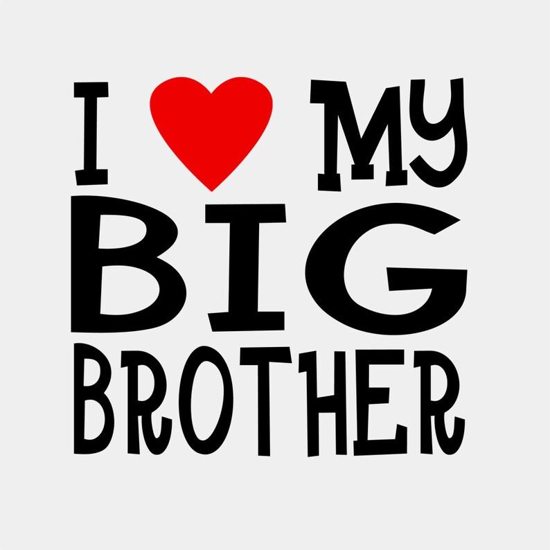 89fd62dd0 I Love My Big Brother Bodysuit or T-Shirt | Etsy