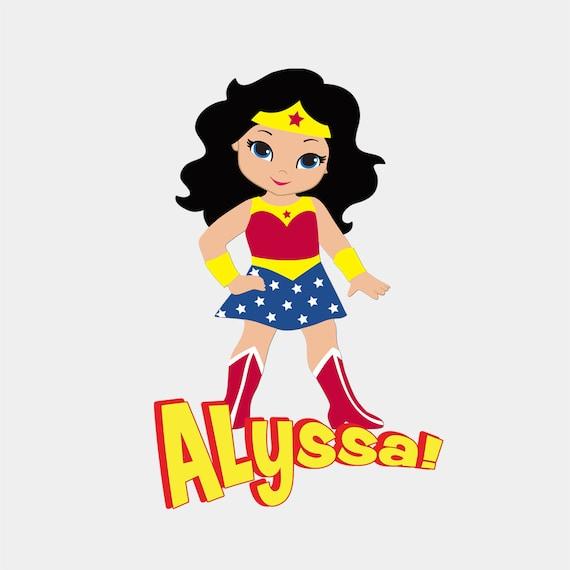 - Bodysuit or Child T-Shirt Supergirl - Wonder Woman - Batgirl Girl Power Super Heroes Adult T-Shirt