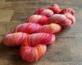 "Hand Dyed Yarn.  Indie Dyed Yarn.  Superwash Merino/Nylon Sport Yarn.  ""Tart Heart"""