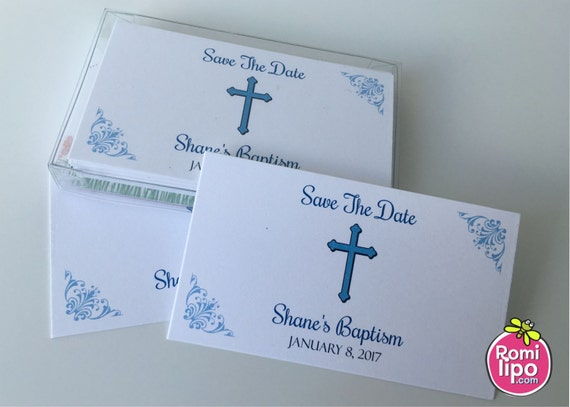 Baptism Set Of 24 Baptism Save The Date Cards First Etsy