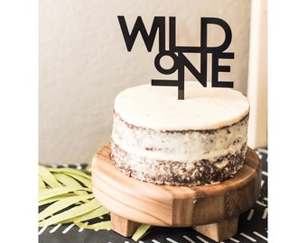 Wild One Birthday Cake Topper,First Birthday Topper,one,Laser Cut Cake Topper,Acrylic,Personalized,1st Birthday,Baby's First,Happy Birthday