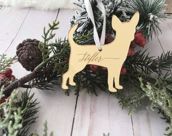 Dog Silhouette Custom Ornament,Personalized Gift,Custom Ornament,Christmas Decor,Wedding Gift,Dog Breeds,Gift Ideas,Holiday decor,Gift idea