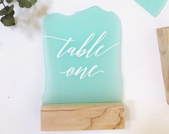 Signs and Table Numbers
