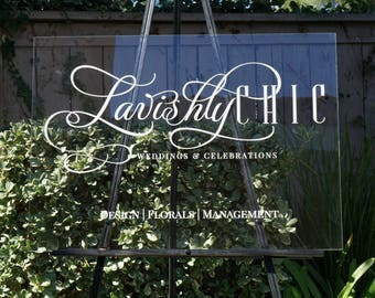 Acrylic Custom Sign,Clear Wedding Welcome Sign,Wedding Signs,Personalized Sign,Modern Wedding,Decoration,Sign,Clear Acrylic,Welcome Sign