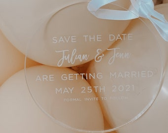 Save the date Ornament 2020 Personalized Acrylic Ornament,She Said Yes,Engagement, Holiday Engagement,Mr. and Mrs.,clear save the date