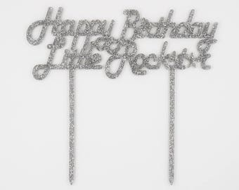 Happy Birthday Little Rockstar,Birthday Cake Topper,Cake Topper,Laser Cut,Acrylic,Personalized,Cake Decoration,Star Decorations,Boy birthday