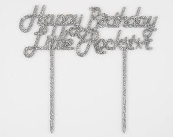 Happy Birthday Little Rockstar,Birthday Cake Topper,Cake Topper,Laser Cut,Acrylic,Personalized,Cake Decoration,Star Decorations,Boy birthday