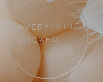 Everything sucked 2020 Ornament - Acrylic Ornament, Funny Christmas ornament, Engagement Gift, Christmas gift ,2020 sucks