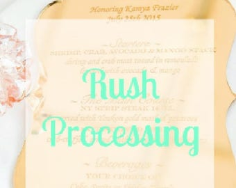 Rush Processing Add On