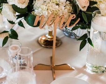 Wood Table Number, Laser cut, rose gold,Wedding Decor, Perfect Weddings, Gold Wedding Decor,Wood Wedding Signs,Custom Decor,Rustic Wedding