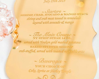 Menus and Invitations