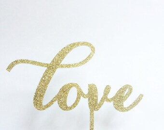 "Love Wedding Cake Topper 6"" inches 
