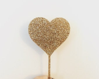 Heart Acrylic Cake Topper,birthday cake topper,gold glitter cake topper,laser cut topper,acrylic topper,Bridal Shower Cake,Wedding Cake