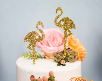 Flamingo Cake Topper Set,Flamingle Cake Topper,Wedding Cake Topper,Tropical Cake Topper,Flamingo,2count,Flamingle,Bachelorette,Bridal Shower