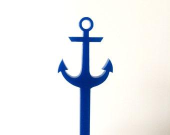 Anchor Drink Stirrer,anchor decor,nautical Wedding Shower,Nautical,anchor Swizzle Sticks,party decor,beach wedding,Acrylic,Laser Cut,50 Pack