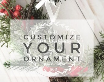 Design your own Ornament 2020 Personalized Acrylic Ornament,Custom 2020 ornament,Christmas 2020,Mr. and Mrs.