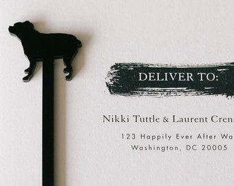 Custom Dog Silhouette Swizzle Stick,Gift Ideas,Personalized Gift,Drink Stirrer,Wedding Gift,Dog,Gift Ideas,Stir Stick,Gift idea, 50 pack
