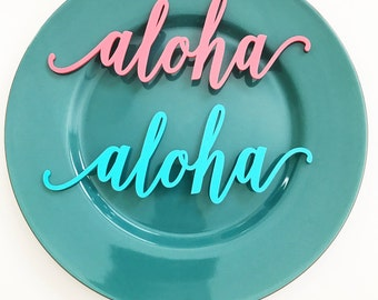 "Aloha Signs 8"" x 3"" 