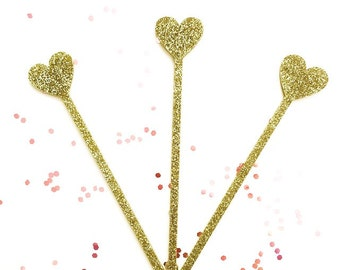 Heart stirrer,love,swizzle Sticks,Drink Stirrer,Cocktail Sticks,Weddings, Birthday,Party Decor,Bridal Shower,Engagement Party,Stir Stick,6Pk