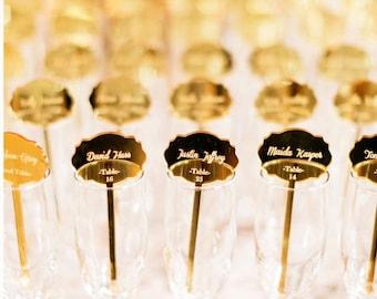 drink Stirrers Custom Etched,Acrylic Stirrers,Laser Cut Wedding Decor,Drink Stirrers,Swizzle Sticks,Place Cards,escort cards,50 Pack