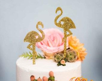 Flamingo Cake Topper Set,Flamingle Cake Topper,Wedding Cake Topper,Tropical Cake Topper,Flamingo,2count,Flamingle,Bachelorette,Bridal Shower