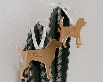 Dog Silhouette Custom Ornament,Personalized Gift,Custom Ornament,Christmas Decor,Wedding Gift,Dog Breeds,Gift Ideas,Holiday decor,Gift idea