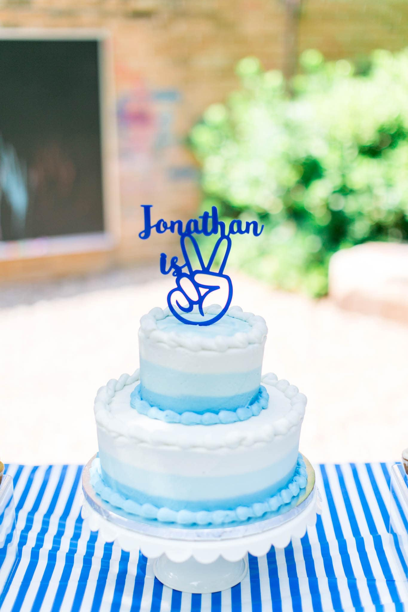 Remarkable Peace Sign Personalized Name Topper Cake Topper Second Birthday Personalised Birthday Cards Epsylily Jamesorg