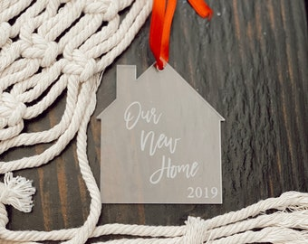 Our New Home Ornament 2021 First Christmas in New Home Ornament, New Home Housewarming Gift, Personalized Christmas Ornaments