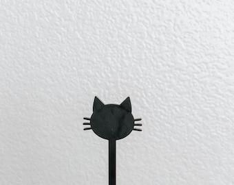 Cat Face Drink Stirrers,Halloween,Party Favors,Acrylic Stirrers, Gothic,Halloween Party,Halloween Decorations, Swizzle Sticks,Laser Cut,6 Pk