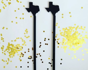 Custom State Swizzle Sticks,Personalized Gift,Drink Stirrer,Wedding,Bridal Shower,Engagement Party,Stir Sticks,Bar,California,Texas,6 Pk