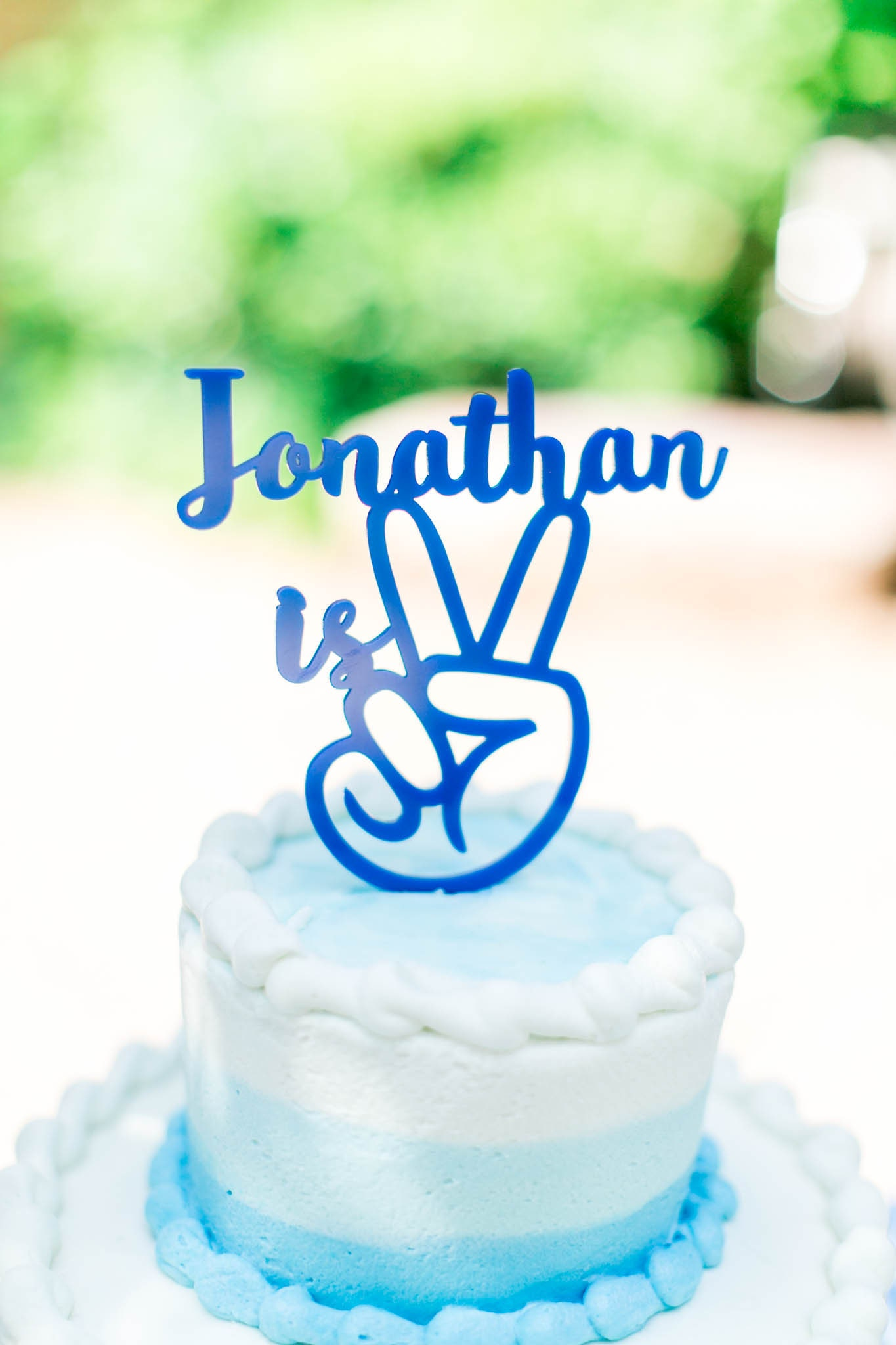 Stupendous Peace Sign Personalized Name Topper Cake Topper Second Personalised Birthday Cards Epsylily Jamesorg