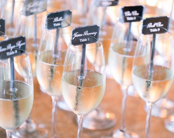 Place cards,champagne stirrers,drink Stirrers, Custom Etched,Acrylic Stirrers,Laser Cut Wedding Decor,name cards,escort cards,50 Pack