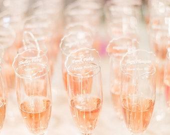 Escort Cards, Laser Cut, Etched Acrylic Stirrers,Wedding Decor,Drink Stirrers, Swizzle Sticks, Gold Stir Sticks, Luxury Wedding, 1 Sample